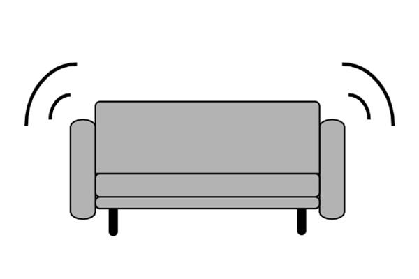 思ったより家具が大きかった・・・