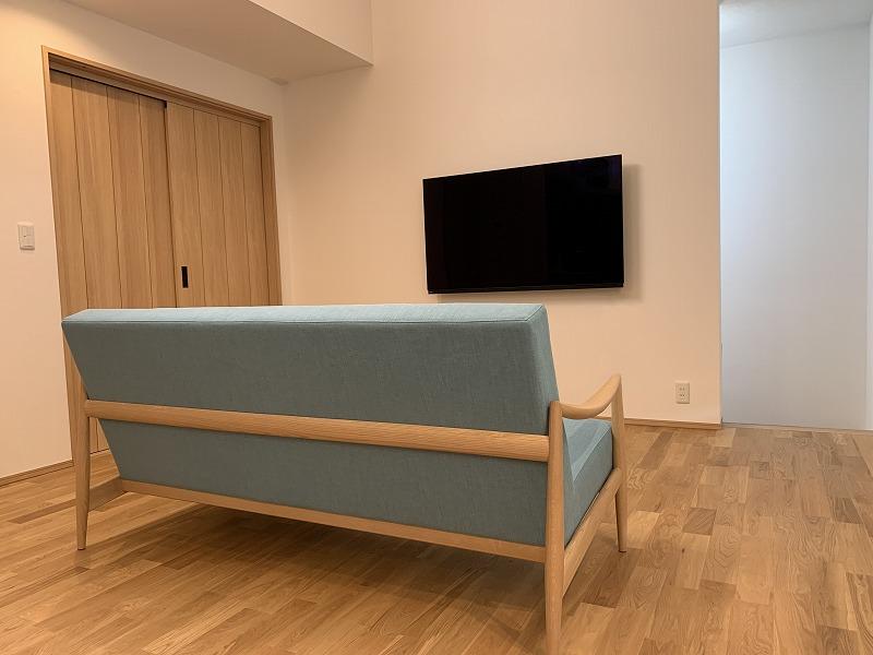 空色のソファです。